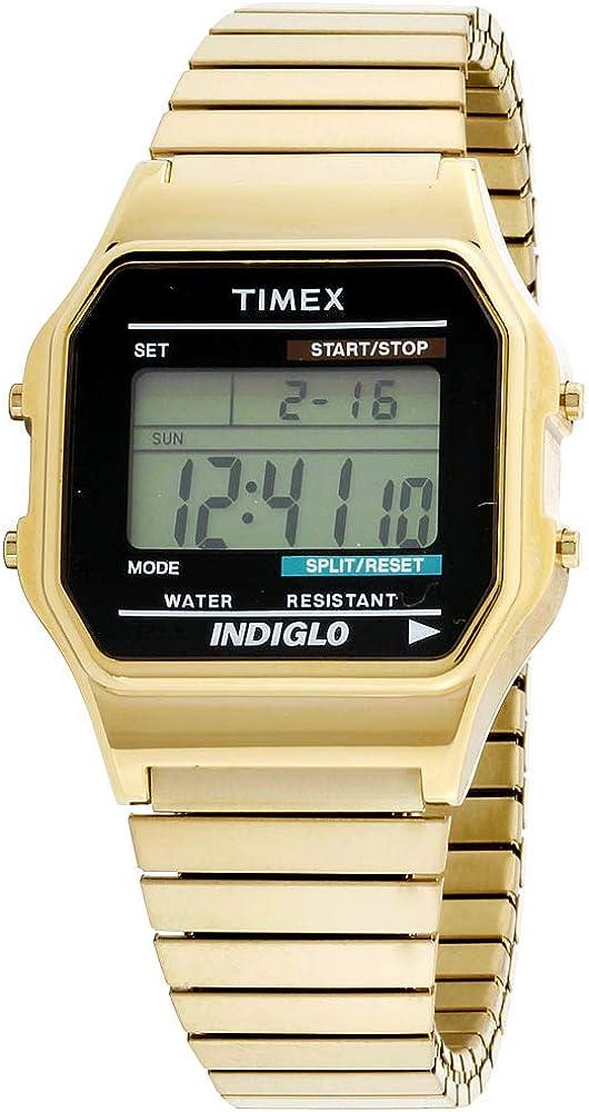 Timex - Reloj Digital de Cuarzo para Hombre, Correa de Acero Inoxidable