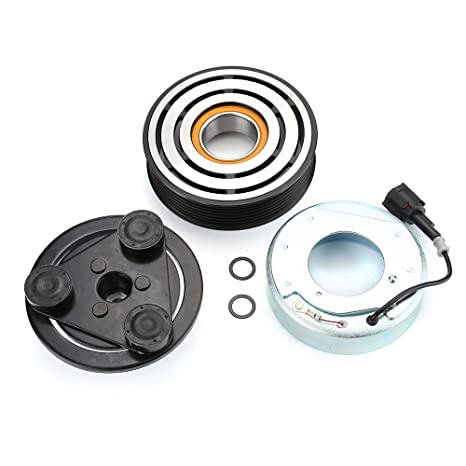 AC bobina de Kits de embrague del compresor Polea rodamientos placa para Nissan Versa 07 –