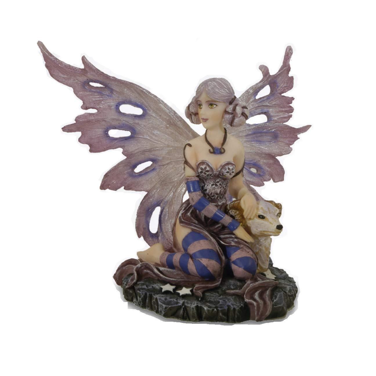 Collezione Fairy Land Zodiac 042 134-28 Altezza 13 cm Statuetta Figura Dipinta a Mano Les Alpes Orig Fata Segno Zodiacale Ariete