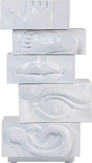Kare Hochkommode Body Art Weiß 81559 Ausgefallene Kommode