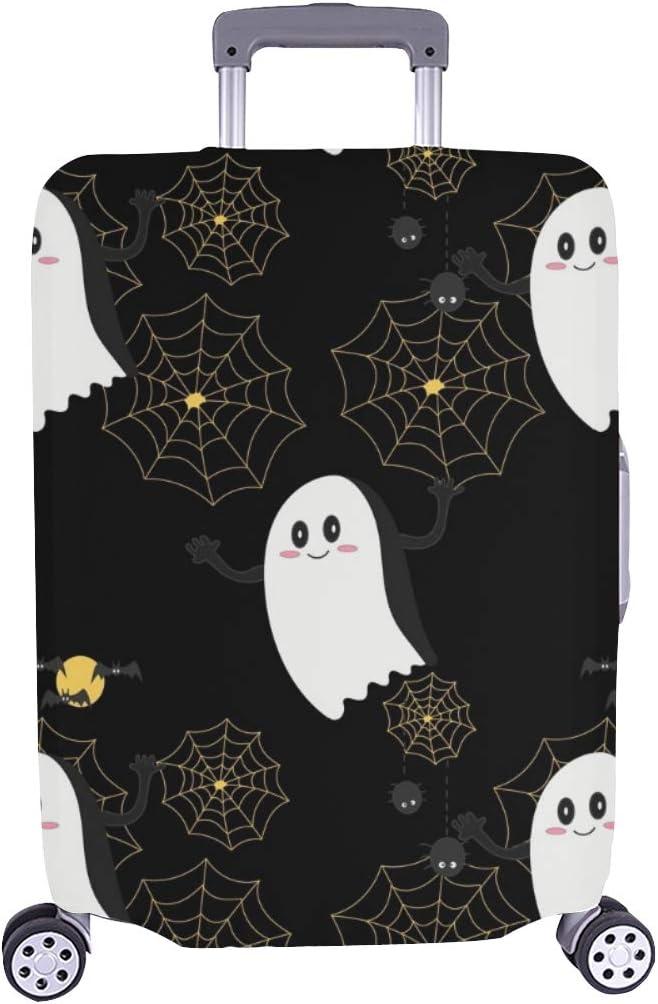 Fantasma Blanco Feliz Halloween Cofre de Viaje Maleta de Viaje Maleta Protectora de Viaje Cubierta 28.5 X 20.5 Inch