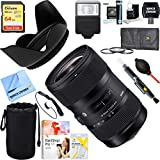 Sigma AF 18-35MM F/1.8 DC HSM Lens for Sony (210-205)+ 64GB Ultimate Filter & Flash Photography Bundle