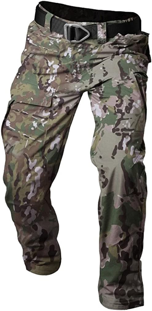 MSMIRROR Summer Tactical Camouflage Army Pants Men Waterproof Combat Military Pants