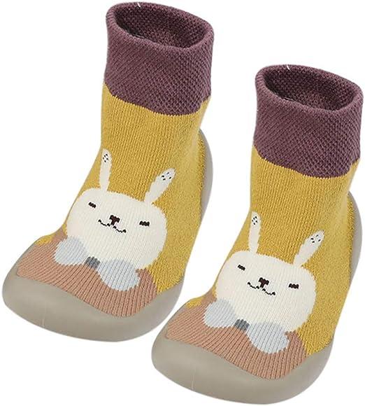 Fnsky Calcetines de beb/é Pantuflas Calcetines 20-21 Antideslizantes y c/álidos Calcetines de Piso Calcetines de Invierno Lindos Zapatos de calcet/ín para beb/é ni/ño ni/ña Amarillo
