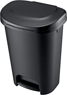 product image for Rubbermaid Step-on Trash Can, 13-Gallon, Black