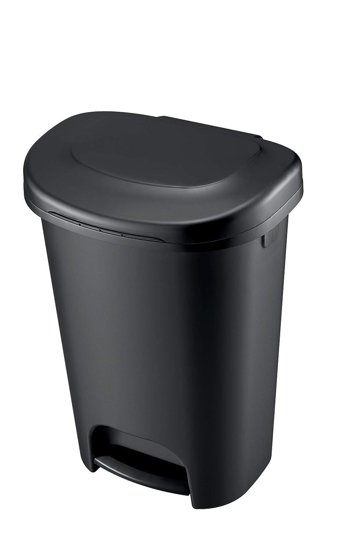 13-Gallon Black Rubbermaid 1843028 Step-On Wastebasket