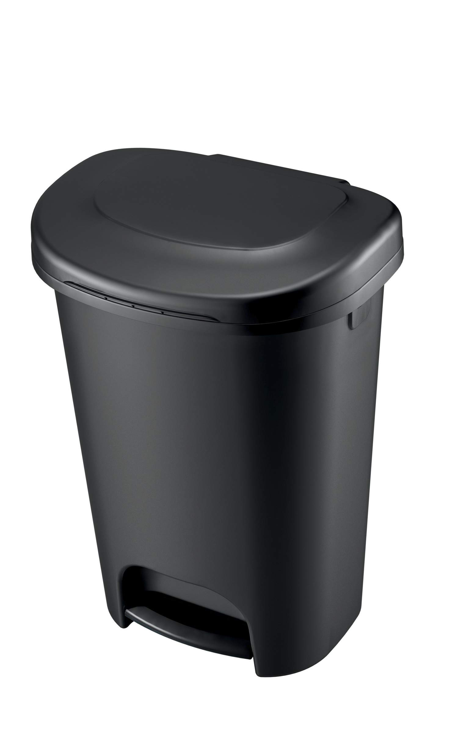 Rubbermaid 1843028 Step-On Wastebasket, 13-Gallon, Black by Rubbermaid