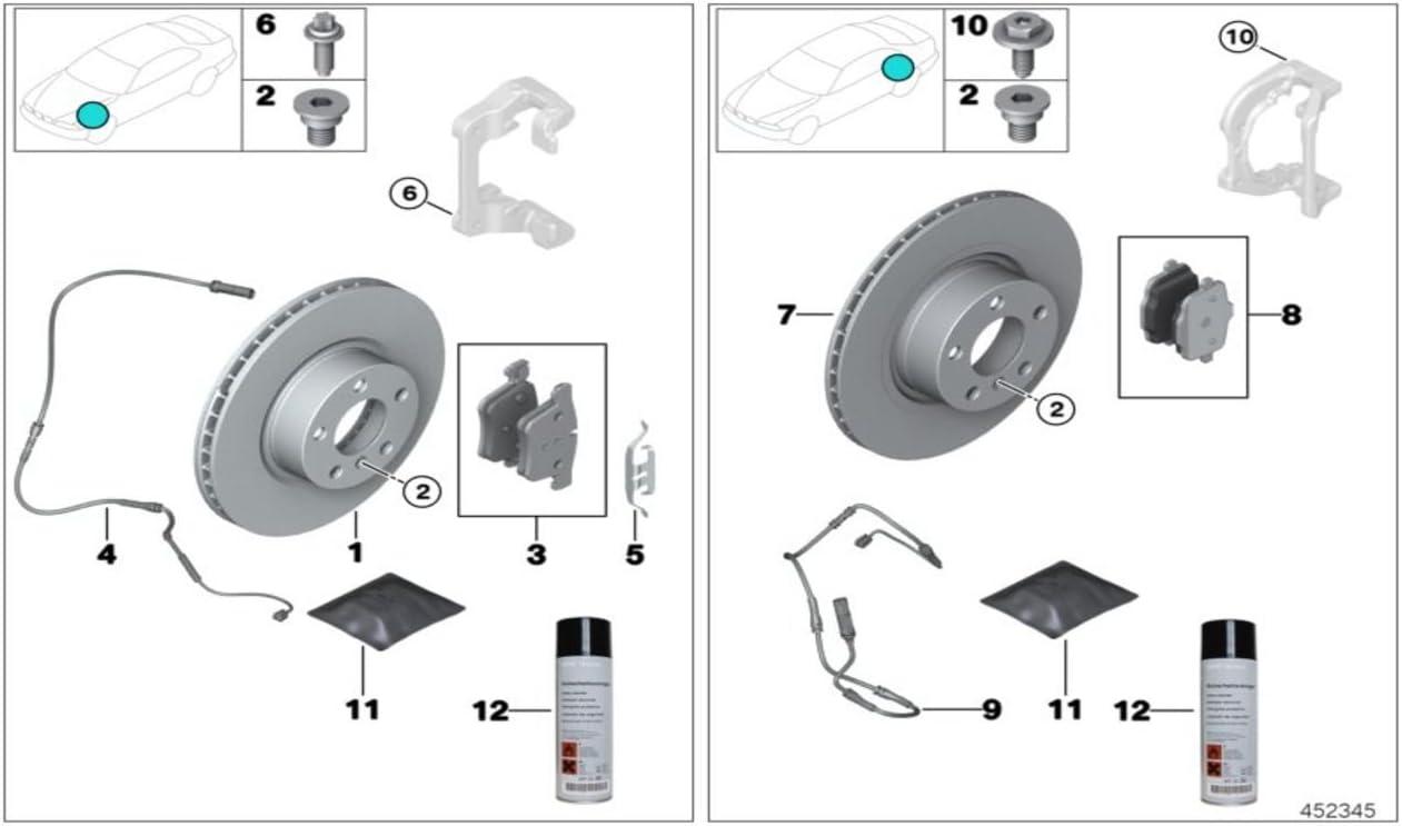 BMW Genuine Rear Brake Pads Repair Kit 5 Series X3 F25 X4 F26 34216862202