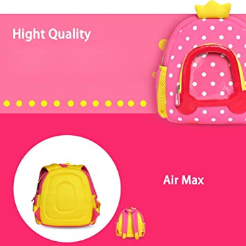 c7cee95fcca6 BINGONE NOHOO Kids Shoulder Backpack Princess Car Pink  Amazon.co.uk   Luggage