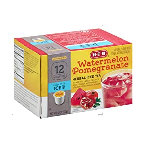 HEB Brew Over Ice, Watermelon Pomegranate Lemonade Single Serve Cups compatible with Keurig 2.0, 12 cts