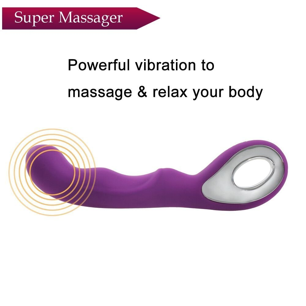 G-Spot Waterproof Rechargeable Dildo Vibrator 10 Speeds Silicone Clitoris Vagina Stimulator Adult Sex Toys for Women and Couples (Purple)