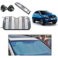Torix Car sunshade window UV Protection, Wind shield summer Front visor Aluminium foil double sided 130 Cm X 60 Cm