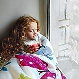 Paco Home Manta Infantiles con Mariposas Coloridas Motivo Mariposa Suave En Crema, tamaño:155x215 cm