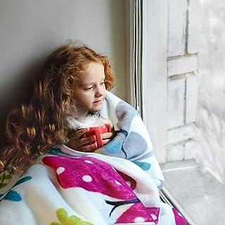 Paco Home Decke Kinderdecken Schmetterlinge Creme Butterfly Bunt Kuscheldecke Spieldecke, Grösse:155x215 cm