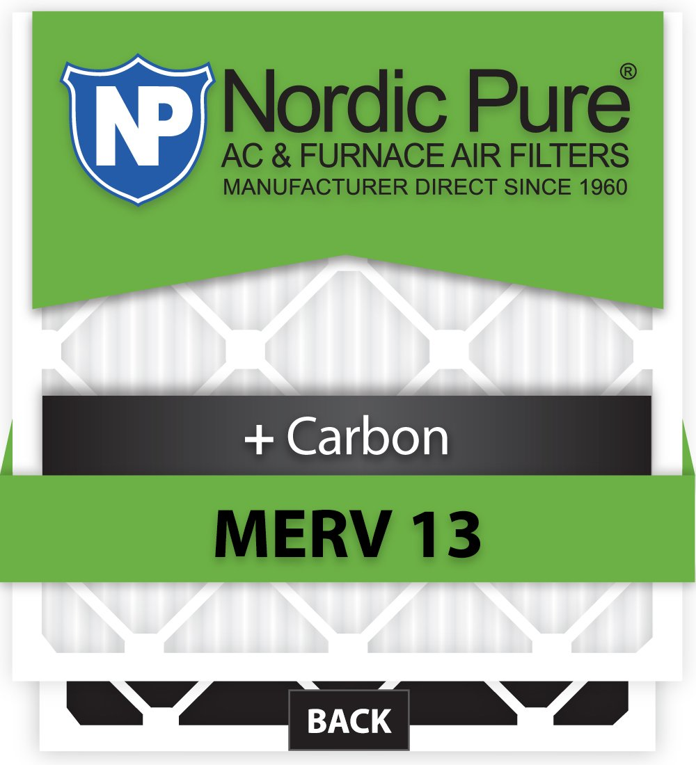 6 Piece Nordic Pure 13x18x1ExactCustomM13+C-6 MERV 13 Carbon AC Furnace Filters