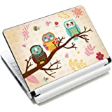 """Three Owls Fashion Netbook Laptop Skin Sticker Reusable Protector Cover Case for 11.6"""" 12.1"""" 13"""" 13.3"""" 14"""" 15"""" 15.4"""" 15.6"""" Inch Apple Acer Asus Toshiba Hp Samsung Dell Leonovo Sony Laptop YNEK-125"""