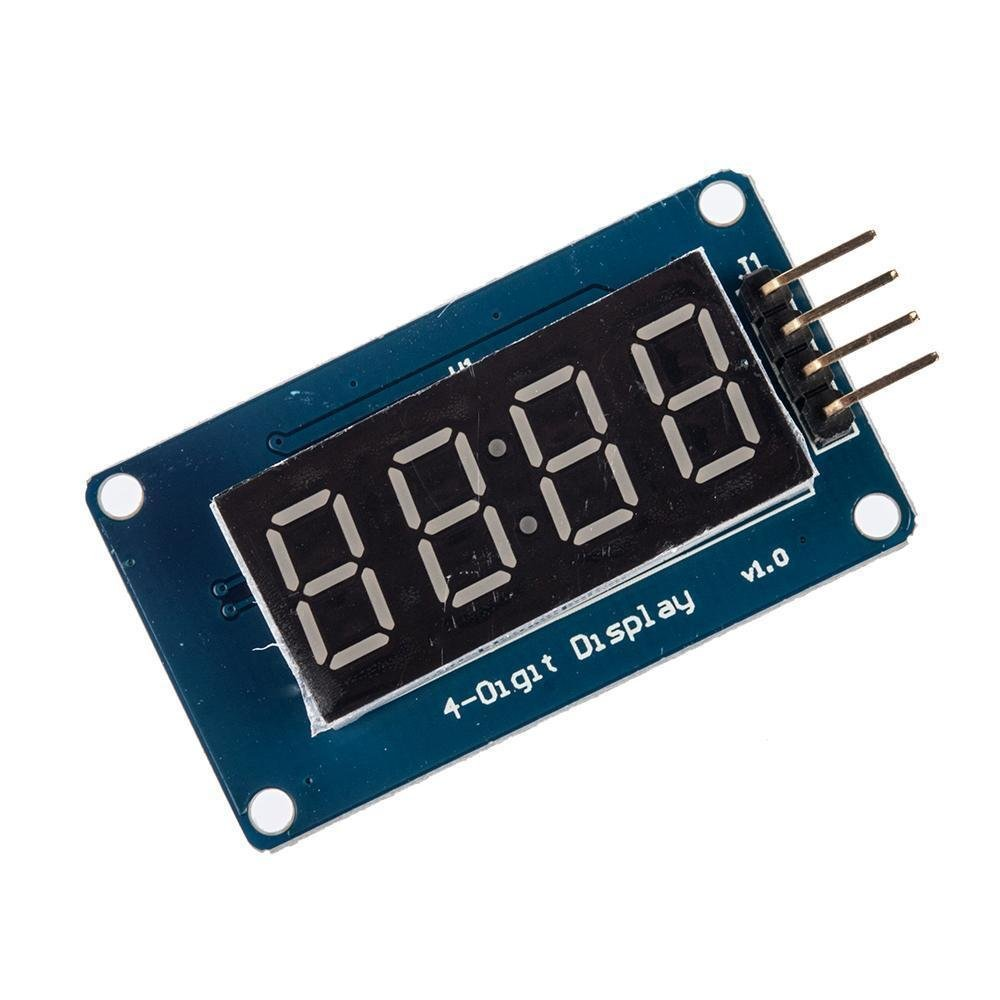 "0.36//0.56/"" inch TM1637 4 Bit LED Display Clock Tube Red//Blue//Green//White//Yellow"