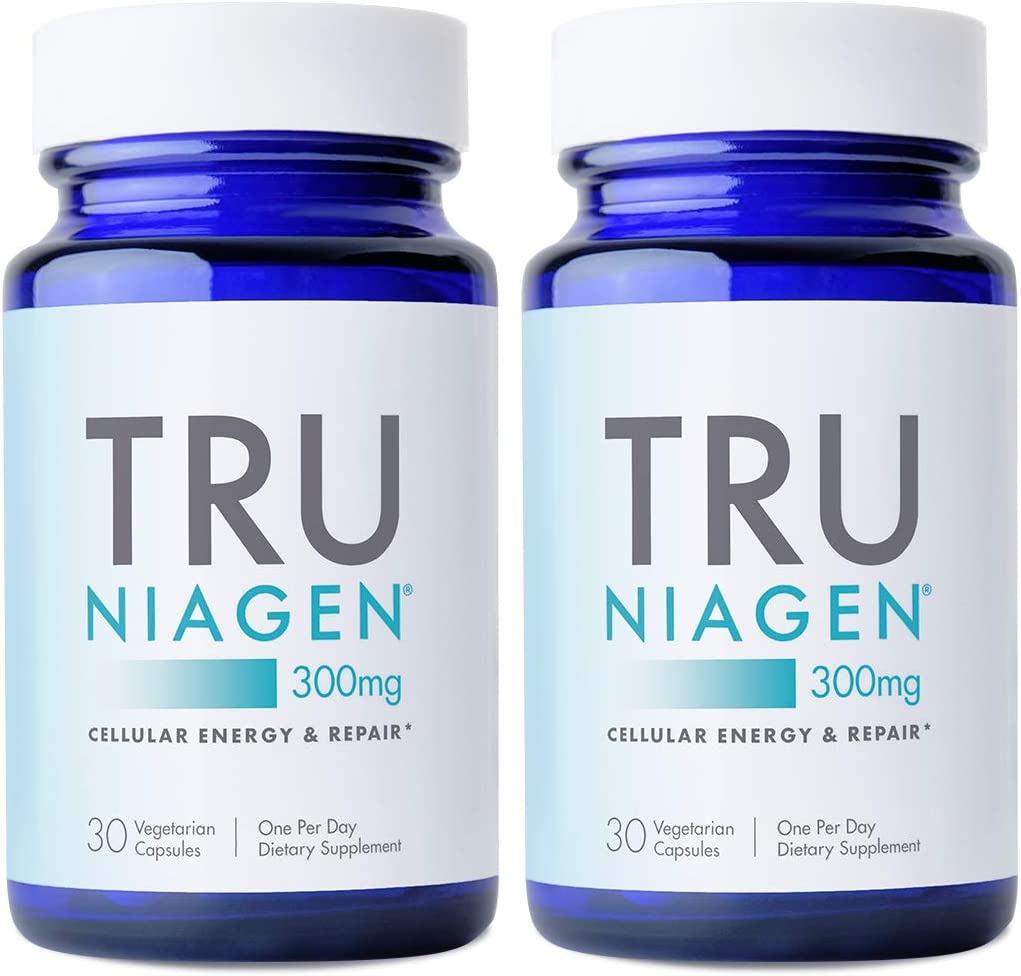 Amazon.com: TRU NIAGEN NAD+ NR Supplement Nicotinamide Riboside for  Well-Being, Energy Metabolism, Cellular Repair & Healthy Aging Patented  Formula More Efficient Than NMN - 30 Count 300mg (2 Months / 2 Bottles):