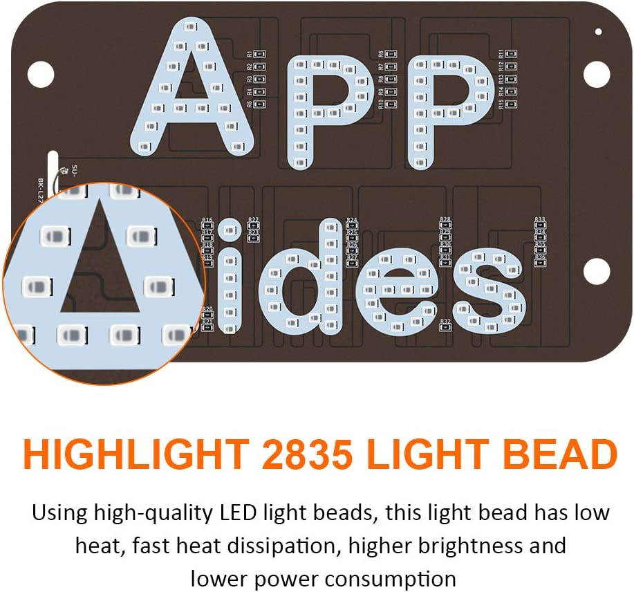 KaiDengZhe LED Sign Light APP RIDES Sign Decor with Suction Cups Glowing Decal Accessories USB LED nterior Indicator Lamp for Driver on Hook on Car Window Windshield (Blue)