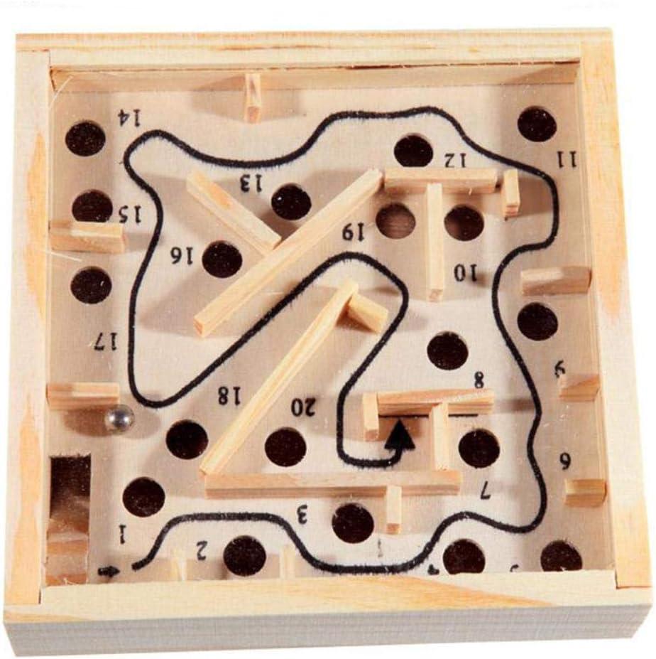 COMPY Wooden Labyrinth Board Game Ball In Maze Puzzle Toy para Adultos Niños Puzzle Maze Games Balance Juego de Mesa Educativo