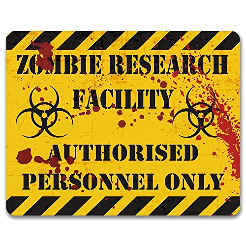 Price comparison product image Print Crafted Zombie Research Facility: Authorised Personnel Only - Metal Sign / Gaming Sign / Man Cave Decor / Teenagers Bedroom