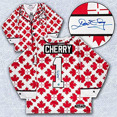Don Cherry Autographed Canada Maple Leaf Custom Suit Hockey Jersey...