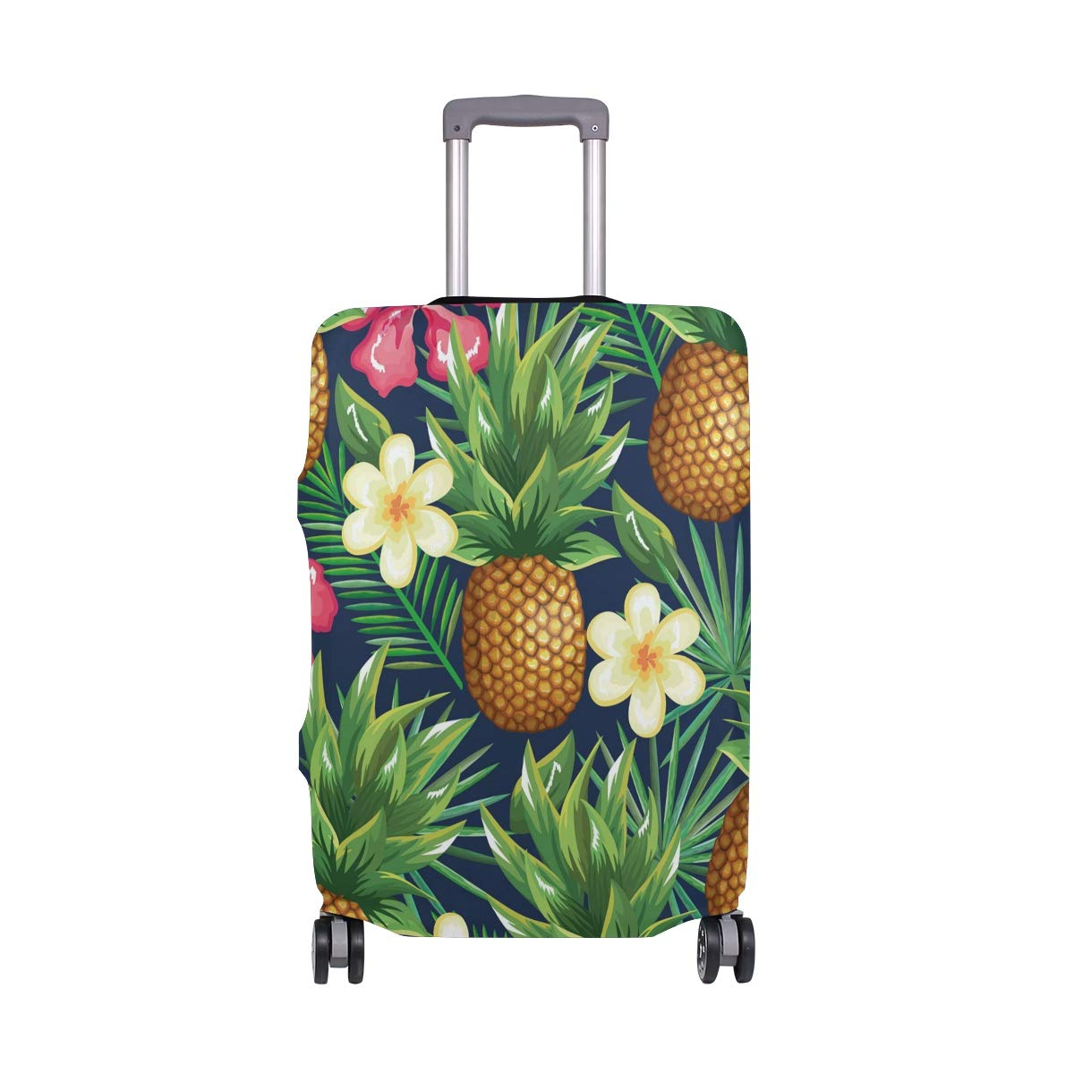 Travel Luggage Cover Tropical Pineapple Elastic Suitcase Protector Washable Baggage Covers Fits 18-32 inch