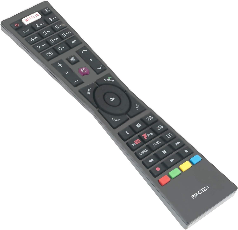 ALLIMITY RM-C3231 Control Remoto reemplazado Apto para JVC Smart 4K LED TV LT-32C670 LT-32C671 LT-43C860 LT-40C860 LT-43C862 LT-43C870 LT-55C860 LT-24C660 LT-24C661 LT-32C660 LT-32C661 LT-49C770: Amazon.es: Electrónica