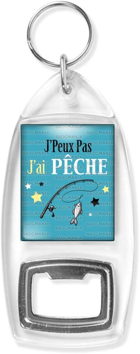 Badgmania Porte Cl/és D/écapsuleur JPeux Pas JAi Peche Canne /à P/êche Humour Excuse