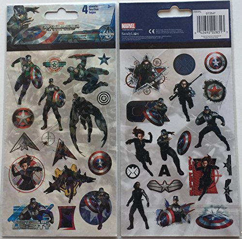 Marvel Captain America the Winter Soldier Sticker Sheets