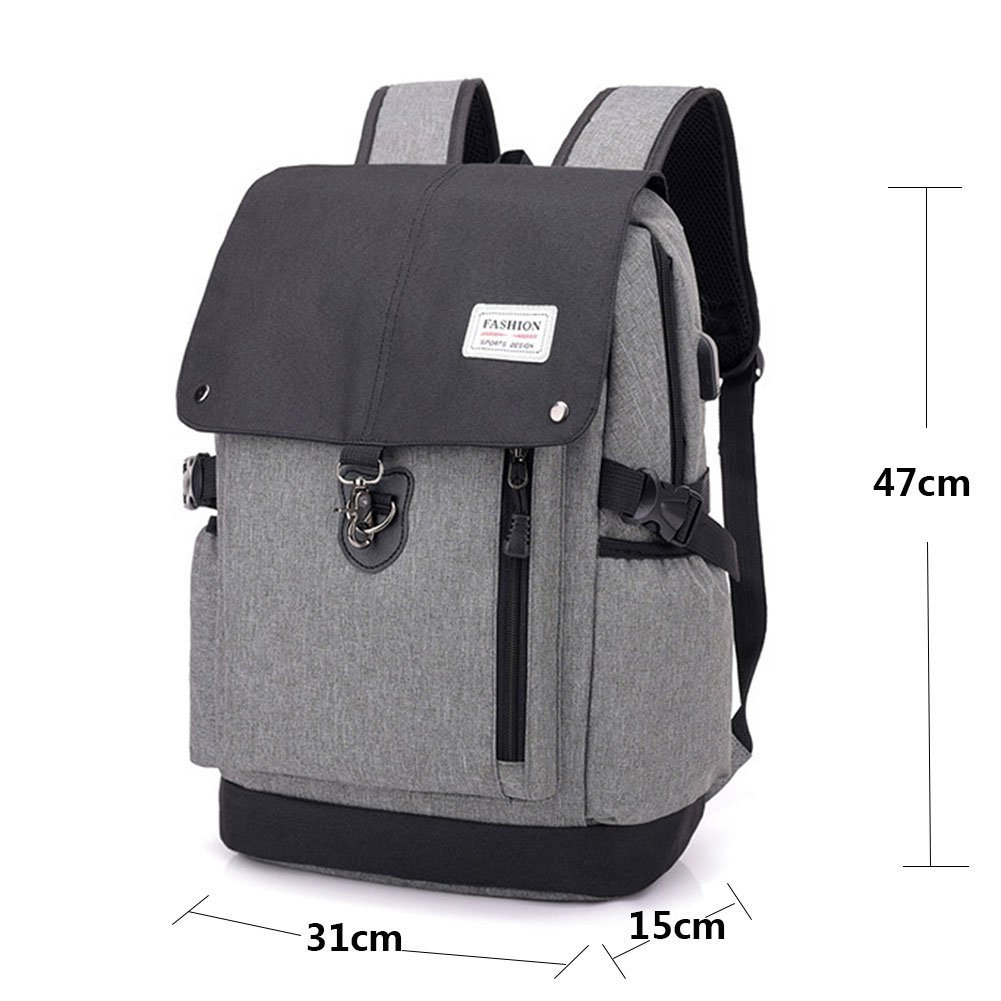 Usb Business Femmes Dos À Willlly Hommes Waterproof Charge Et Sac ZOPkXiu