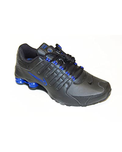 official photos c9fe2 0b5ad ... france nike shox nz mens running shoes 378341 026 black drenched blue  mens 8f61a 36d26