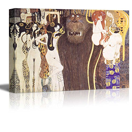 Beethoven Frieze The Hostile Forces by Gustav Klimt Austrian Symbolist Painter Golden Phase