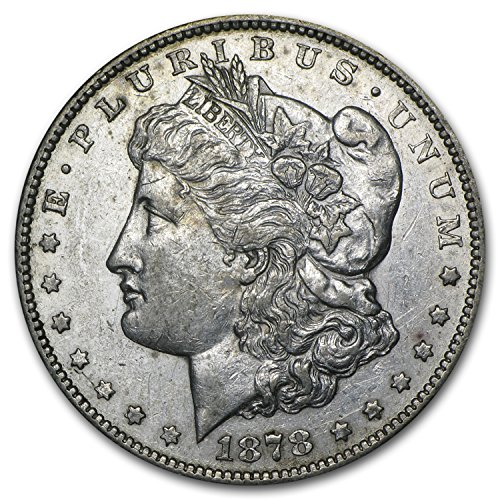 (1878 CC Morgan Dollar AU $1 About Uncirculated)