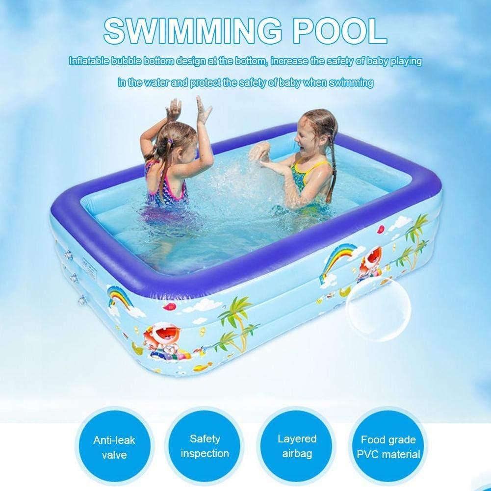 HLDUYIN Inflatable Family Pool, Kinder Planschbecken Rechteckigen Pool Für Wasserspiele (Package Spree) Package a