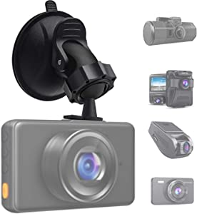 TiToeKi Dash Cam Suction Mount with 15+ Swivel Ball Adapters for Rexing V1,UGSHD,APEMAN,Byakov,Z-Edge, Roav, AUKEY, Old Shark, YI, UGSHD and Most Dash Cameras
