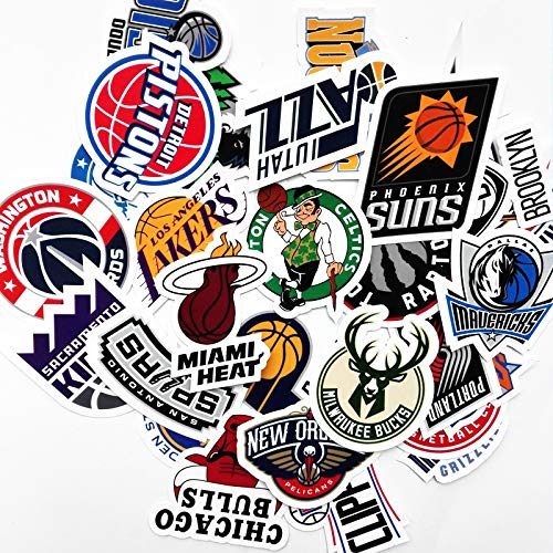 (30pcs NBA Team Stickers Creative DIY Stickers Funny Decorative Cartoon for Cartoon PC Luggage Computer Notebook Phone Home Wall Garden Window Snowboard)