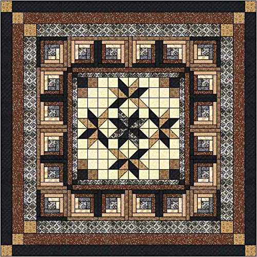 Quilt Kit Log Cabin Night Music/Queen/Precut Ready to Sew by Matmav (Image #1)