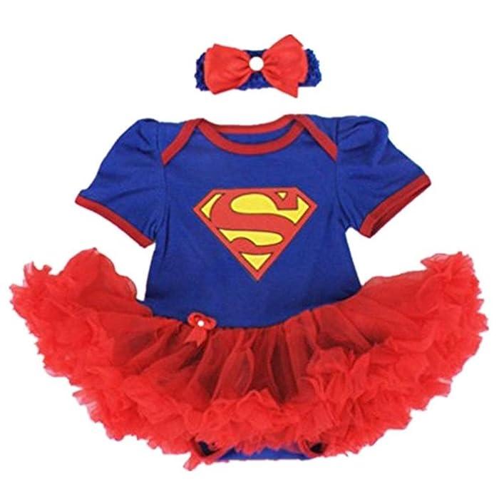 e7cd56695 Starkma Supergirl Newborn Infant Baby Girl Set Clothe Cake Dress S01 ...
