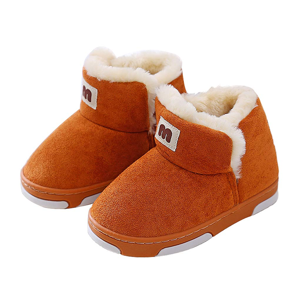 KVbaby Toddler Shoes Baby Winter Warm Snow Boots Girl's Boy's Fur Lined Boots Winter Soft Sole Boots for 0-3 Years Old