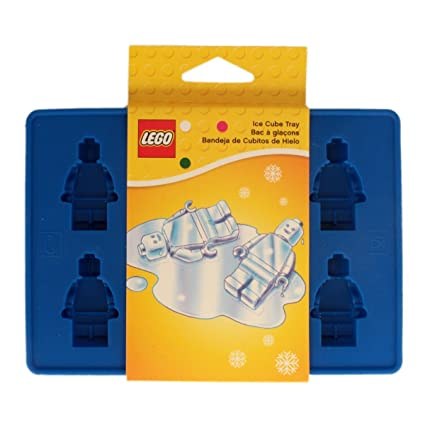 Amazon.com: LEGO Minifigure Ice Cube Tray: Candy Making Molds ...