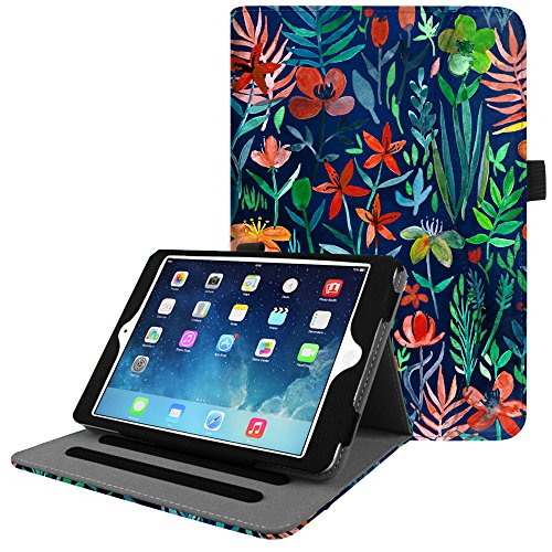 Fintie iPad Mini/Mini 2 / Mini 3 Case [Corner Protection] - [Multi-Angle Viewing] Folio Smart Stand Protective Cover w/Pocket, Auto Sleep/Wake for Apple iPad Mini 1 / Mini 2 / Mini 3, Jungle Night ()
