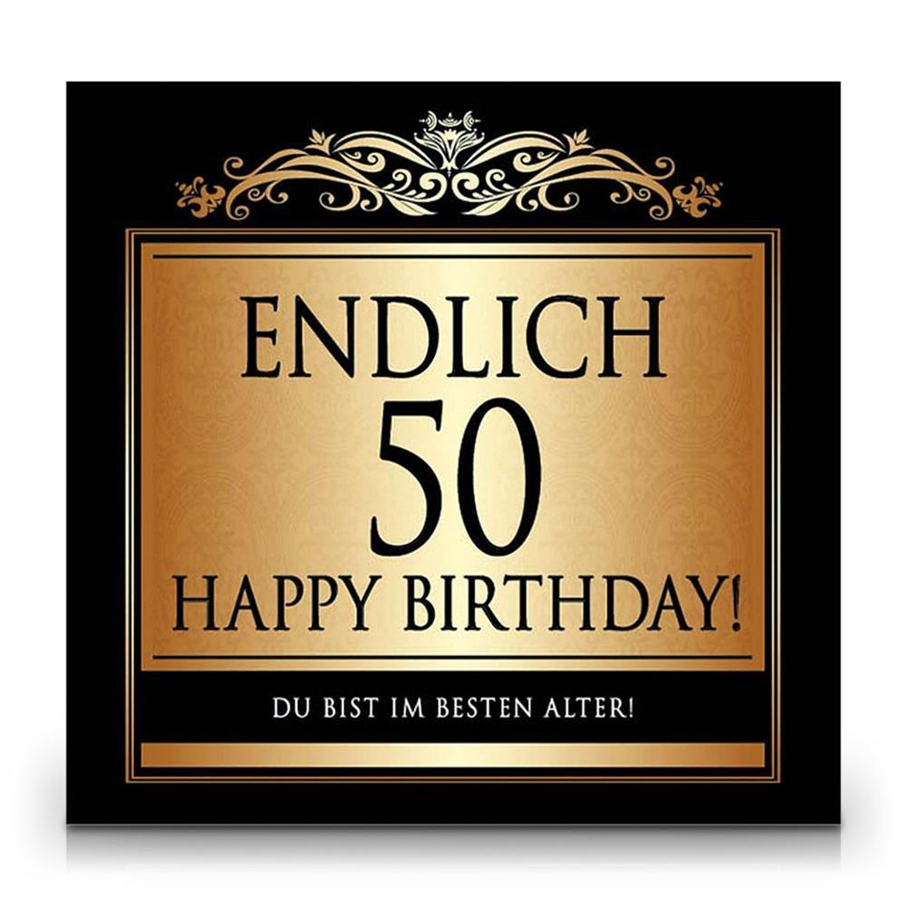Udo Schmidt Aufkleber Flaschenetikett Etikett Endlich 50 Geburtstag ...