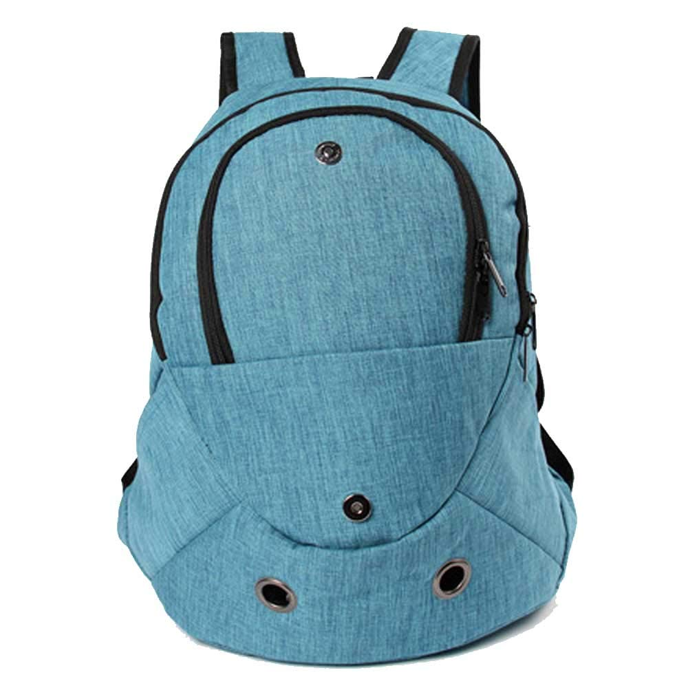 Pet Bag Breathable Oxford Travel Hiking Camping Handsfree bluee Outdoor Pet Bag