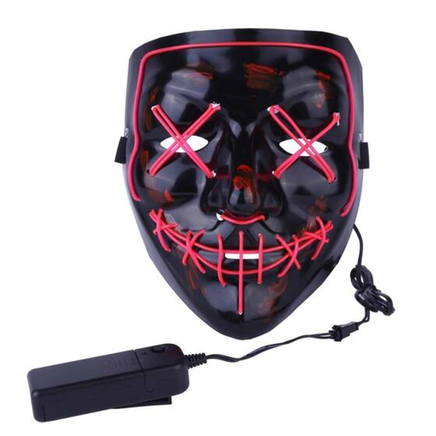 LIFOOST Halloween Scary Mask LED Light Up Party Masks Purge Funny Masks Festival Cosplay Costume Supplies Glow in Dark