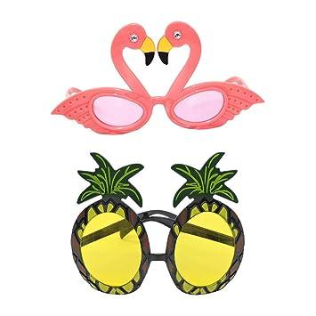 Amosfun Gafas de Sol de piña Flamingo 2 Piezas Gafas de Sol ...