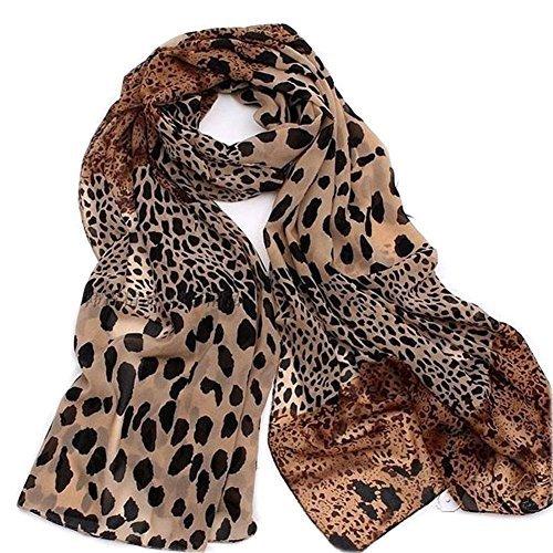 Leopard Scarf (JOVANA 2014 Star Favorite Coffee Oversized Leopard Scarf 5ft 4inchs)