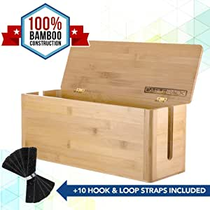 CableRack - Caja de gestión de Cables de bambú para Escritorio: Amazon.es: Electrónica