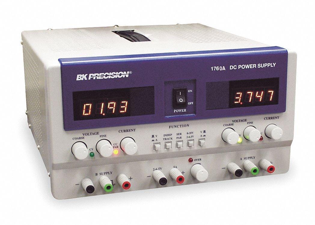 B0000WTX8I B&K Precision 1760A Triple Output DC Power Supply Series, 0-30 V (A&B), 4-6.5 V (C) Output Voltage 61rU4CEMfwL._SL1048_
