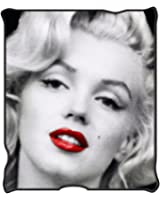 "Marilyn Monroe MR1621 Red Lips Fleece Throw Blanket, 50 x 60"""
